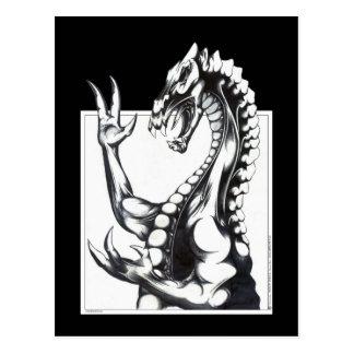 Dragón de la oscuridad postal