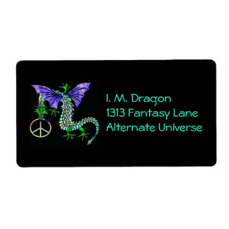 Dragón de la paz etiqueta de envío