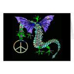 Dragón de la paz tarjeta