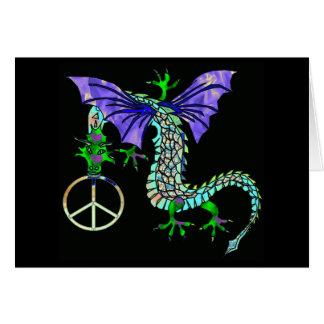 Dragón de la paz tarjeta de felicitación