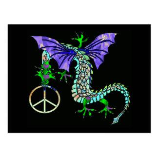 Dragón de la paz tarjeta postal