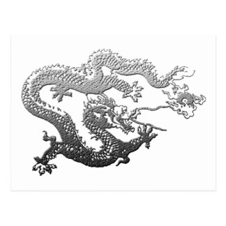 Dragón de la pintura del cromo postal