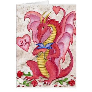Dragón de la tarjeta del día de San Valentín
