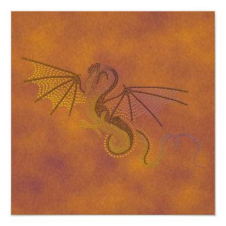 """Dragón de la tormenta invitación 5.25"""" x 5.25"""""""