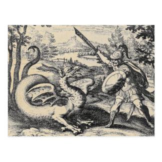 Dragón de las postales de la alquimia
