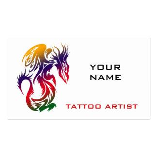 Dragón de las tarjetas de visita del estudio del t