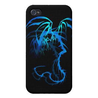 'Dragón de Lectrik sombreado iPhone 4 Carcasa