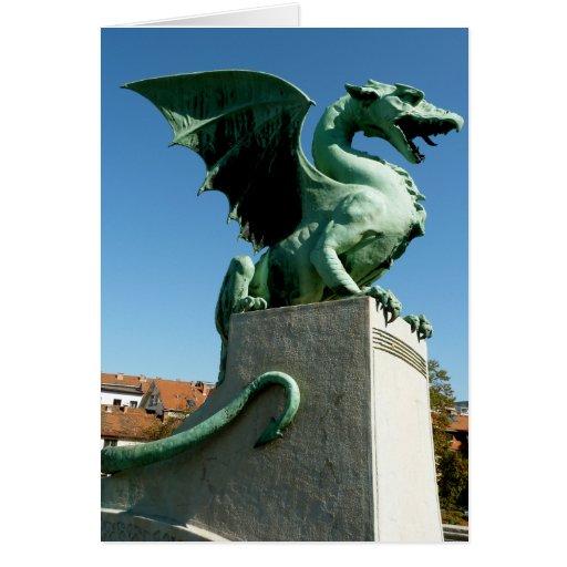 Dragón de Ljubljana Tarjeta Pequeña