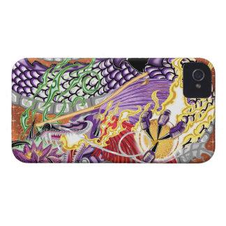 Dragón de los casos de Lotus iPhone4/4S Funda Para iPhone 4