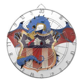 Dragón de los E.E.U.U. que sostiene el escudo de Tablero Dardos