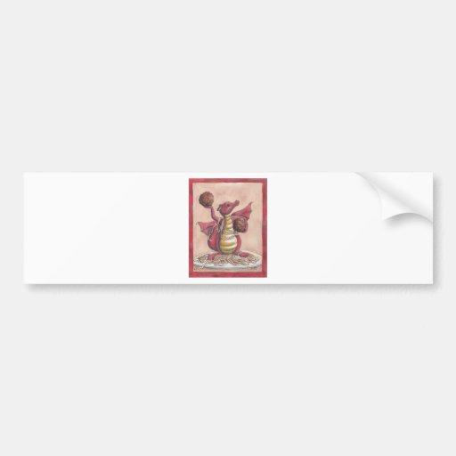Dragón de los espaguetis del vuelo pegatina de parachoque