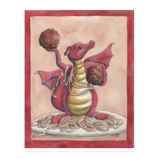 Dragón de los espaguetis del vuelo postales