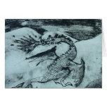Dragón de los nórdises tarjeta