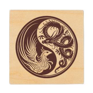 Dragón de madera Phoenix Yin Yang