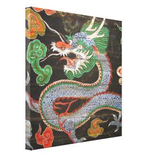 Dragón de Namdaemun Sungnyemun de la Corea del Sur Lona Envuelta Para Galerías