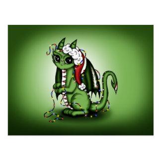 Dragón de Navidad Tarjetas Postales