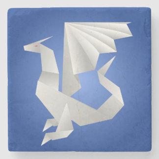 Dragón de Origami Posavasos De Piedra