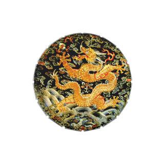 Dragón de oro bordado antigüedad china del zodiaco jarrones de caramelos