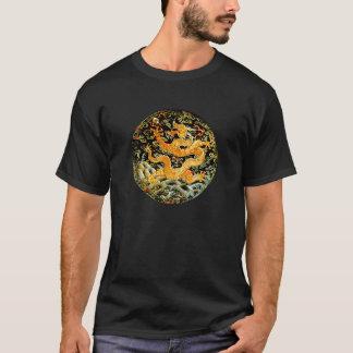Dragón de oro bordado antigüedad china del zodiaco playera