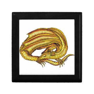 Dragón de oro caja de joyas