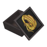 Dragón de oro caja de recuerdo de calidad