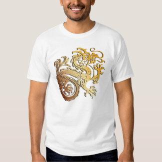Dragón de oro - camiseta playeras