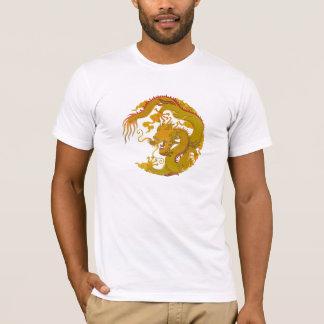 Dragón de oro de la camiseta (008)