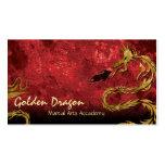 Dragón de oro de la tarjeta de visita del karate d