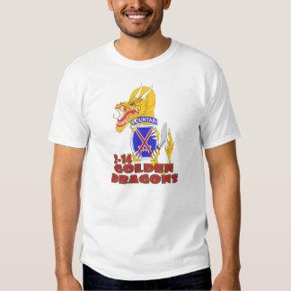 Dragón de oro del 2-14 de Gurka Camisas