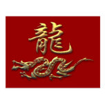Dragón de oro del zodiaco chino