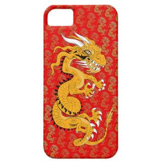 Dragón de oro en rojo iPhone 5 Case-Mate fundas
