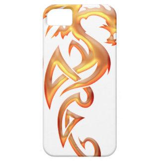 Dragón de oro iPhone 5 funda