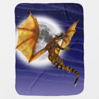 Dragón de oro mantas de bebé