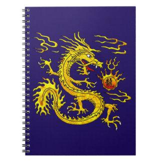 Dragón de oro libretas espirales