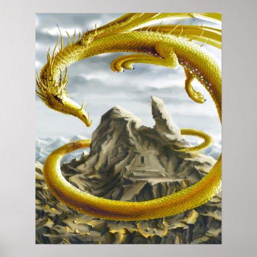 Dragón de oro poster