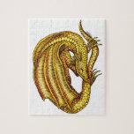 Dragón de oro puzzles con fotos