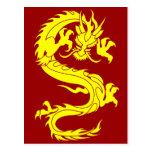 dragón de oro tarjetas postales
