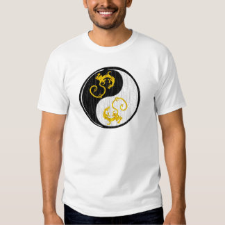 Dragón de oro Yin Yang Remera