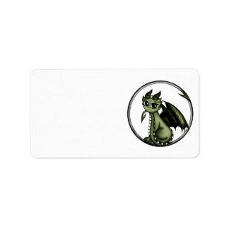 Dragón de Ouroboros Etiqueta De Dirección