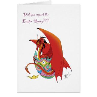 Dragón de Pascua Tarjeta De Felicitación