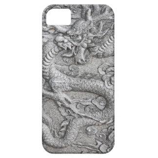 Dragón de piedra chino asiático funda para iPhone 5 barely there