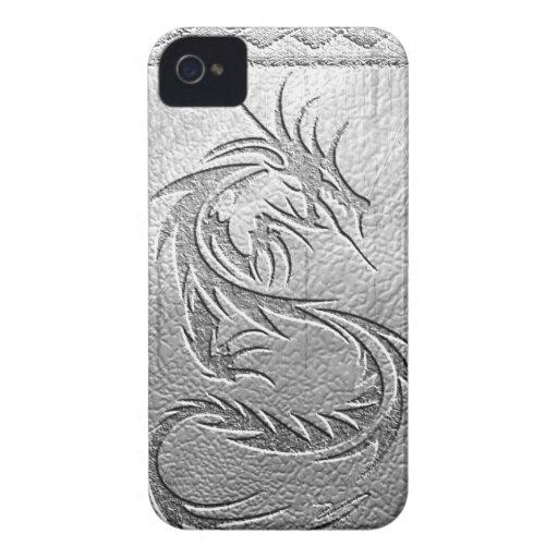 dragón de plata iPhone 4 protectores
