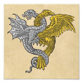 Dragón de plata y Eagle de oro Cojinete