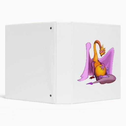 """Dragón de reclinación de la fantasía carpeta 1 1/2"""""""