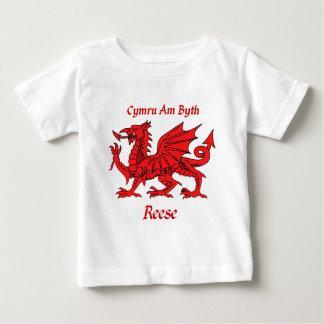 Dragón de Reese Galés Playera De Bebé