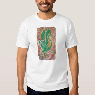 Dragón de respiración del fuego, abstracto camisas