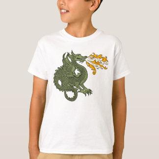 Dragón de respiración del fuego camisas