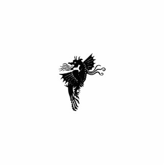 Dragón de respiración del fuego fotoescultura vertical