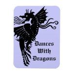 Dragón de respiración del fuego imanes flexibles