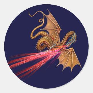 Dragón de respiración del fuego - pegatina